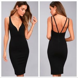 Lulus Gracefully Yours Black Dress